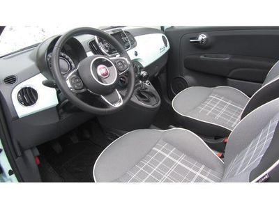 gebraucht Fiat 500 Cabrio Lounge 1,2 69 PS Lattementagrün Dach Schwa