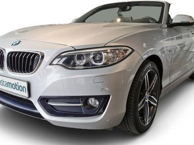 gebraucht BMW 218 218 d Sport Line Cabrio EURO 6 Aut Navi Klima PDC