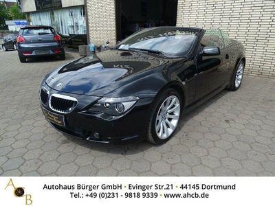 gebraucht BMW 630 Cabriolet i Leder Xenon Navi Kurvenlicht e-Sitze El. Verdeck Fernlichtass. Multif.Lenkrad