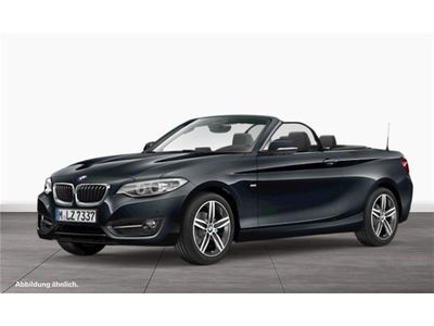 gebraucht BMW 218 d Cabrio Sport Line Navi M Lederlenkrad PDC