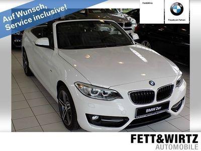 gebraucht BMW 218 d Cabrio Sport Line Navi Leder Xenon Klima