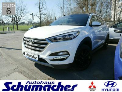 gebraucht Hyundai Tucson 2.0 CRDi 4WD Premium 22900 NAVI LED EU6 als SUV/Geländewagen/Pickup in Filderstadt