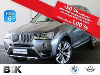 gebraucht BMW X3 xDrive35d Bluetooth Navi Xenon Vollleder PDC