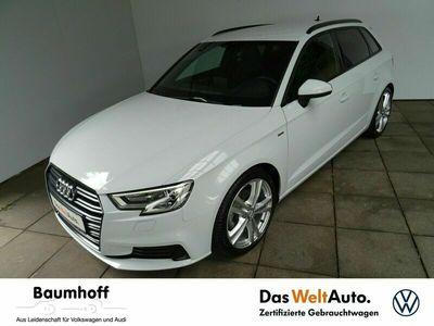 gebraucht Audi A3 Sportback 1.5 TSI S-LINE / 18'+AHK+TEILLEDER -