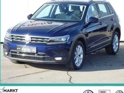 gebraucht VW Tiguan Highline 4MOTION 2.0 TDI DSG AHK Navi LED ACC