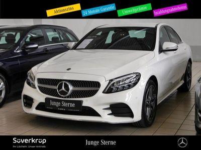 gebraucht Mercedes C180 AMG Line AHK+LED+NAVI+SHZ+PARKASS+CARPLAY