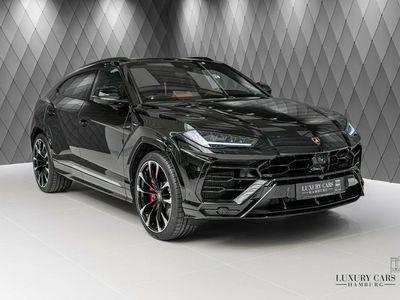 "gebraucht Lamborghini Urus 2020 BLACK / ORANGE 4-SEATS PANO B&O 23"""