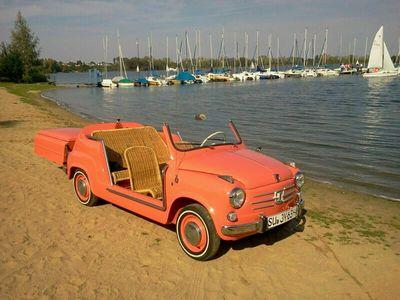 gebraucht Fiat 600 Jolly by Ghia/Weltweite Rarität im Zustand 1 als Cabrio/Roadster in Wesel