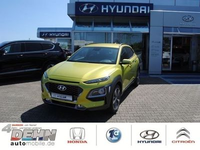 gebraucht Hyundai Kona 1.0 T-GDi Style (Farbappl. LIME) Navigation