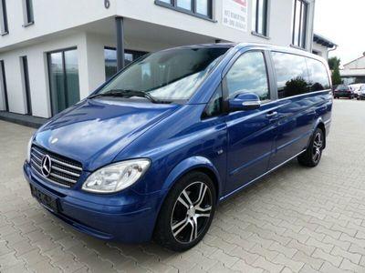 gebraucht Mercedes Viano 3.0 CDI Activity lang Navi Leder Blau Met.