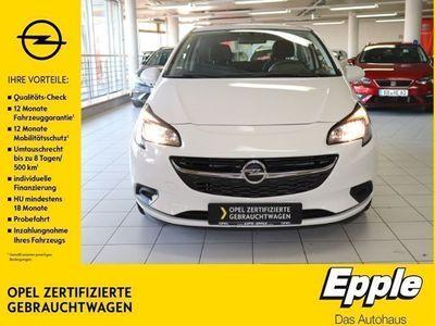 gebraucht Opel Corsa E Selection 1.2 NR RDC Klima ESP Seitenairb. Scheckheft Gar. Radio TRC Airb ABS