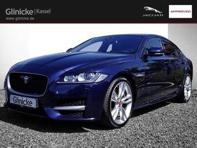 gebraucht Jaguar XF R-Sport 30d Leder Navi Keyless e-Sitze HUD ACC Rückfahrkam. Panorama Niveau El. Heckklappe