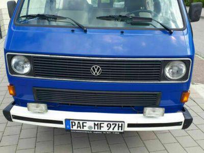 gebraucht VW T3 Kombi Blau Schaltgetriebe 95 HP