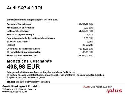 gebraucht Audi SQ7 4.0 TDI 360° Kam Standheizung ACC AIR HeadUp