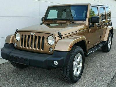 gebraucht Jeep Wrangler 2.8CRD Unlimited Sahara AUTOM*NAV*LEDER