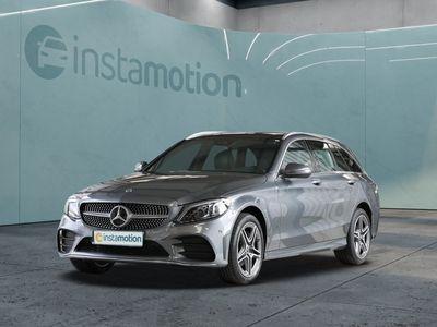 gebraucht Mercedes C220 C 220d 4M T AMG Sport LED Pano Navi SHD Spurh.-