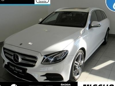 gebraucht Mercedes E220 T 4M AMG Line AHK*Kamera*Distronic*LED*