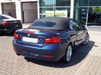 gebraucht BMW 220 d Cabrio Sport Line Navi Xenon Komfortzugang