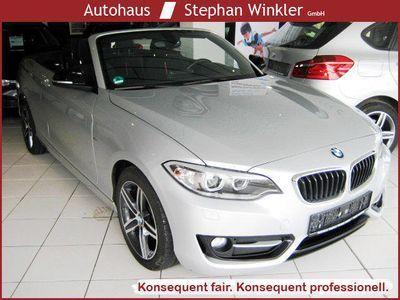 gebraucht BMW 218 i Cabrio Sport-Line/1Hd/Xenon/Garantie/EURO6