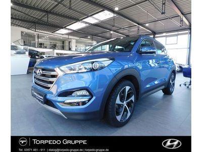 "gebraucht Hyundai Tucson 1.6 GDI TURBO 2WD STYLE 19""ALU, PANORAMAD"