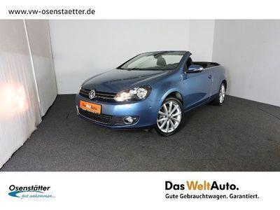 "gebraucht VW Golf Cabriolet VI 1,6 TDI ""Lounge"" Standhzg./Nav"