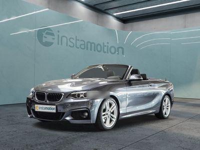 gebraucht BMW 220 220 i Cabrio M Sport Aut. Navi Xenon Klimaaut.