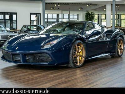 gebraucht Ferrari 488 GTB Blu Pozzi Gold Rims Lifting Carbon LEDs