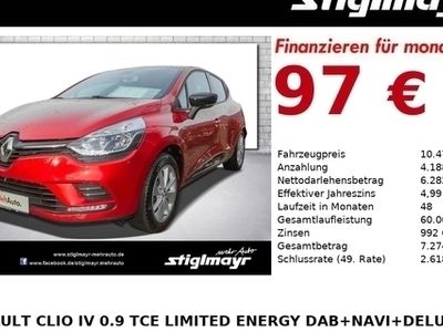 gebraucht Renault Clio IV 0.9 Tce Limited Energy DAB+NAVI+DeLuxe