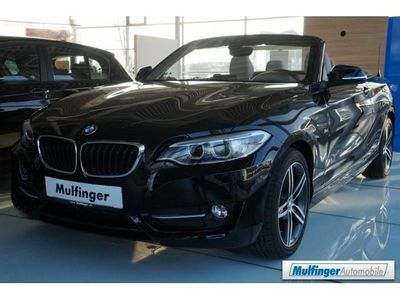 gebraucht BMW 218 d Cabrio Sport Line Xenon Teilleder Driving