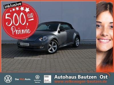 gebraucht VW Beetle Cabriolet Sport Cabrio 2.0 TDI NAVI+SOUND/PDC/GRA/SHZ/CLIMATRONIC/17-ZOLL/KOMFORT/TEL.-VORB.