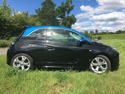 gebraucht Opel Adam S 1.4 Turbo Schwarz / Blau Metallic