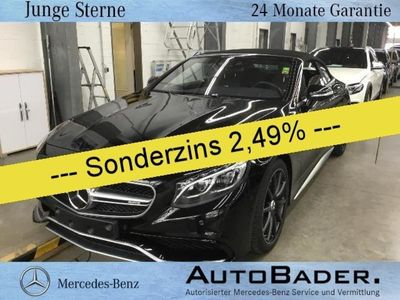 used Mercedes S63 AMG 4M Cabrio DriversP HeadUp ILS 360° KA NP214