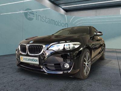 gebraucht BMW 218 218 i Sport Line Coupe Automatik 17-Zoll PDC Tempomat