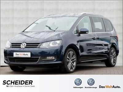 gebraucht VW Sharan 2.0 TDI DSG Highline 7 Sitze Xenon Navi Shzg