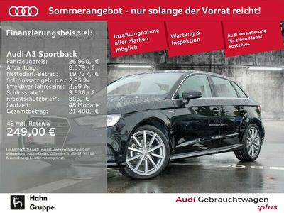 gebraucht Audi A3 Sportback 2.0TDI S-line Matrix Navi StandH Tempo Navii