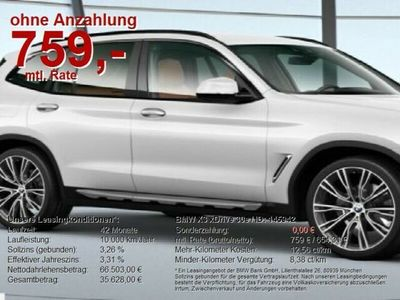 gebraucht BMW X3 xDrive 30e ** Sofort verfügbar**