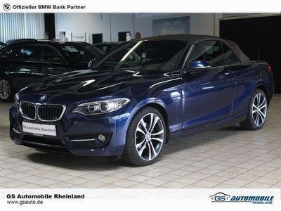 gebraucht BMW 225 dCabrio SportAut.SportLine NaviPro M-Lenkrad