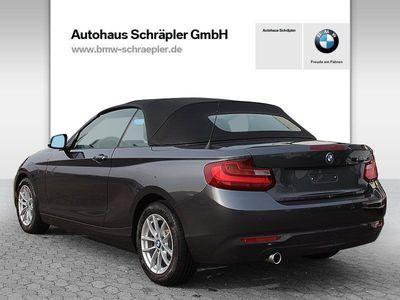 gebraucht BMW 218 d Cabrio Advantage Navi Xenon USB PDC Shz