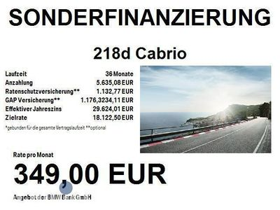 gebraucht BMW 218 d Cabrio Sport Line (Navi Xenon Klima)
