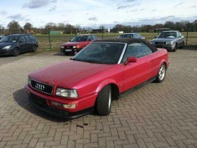 gebraucht Audi 80 B4 Cabrio V6 Sonderfarbe Purpur rot Metallik