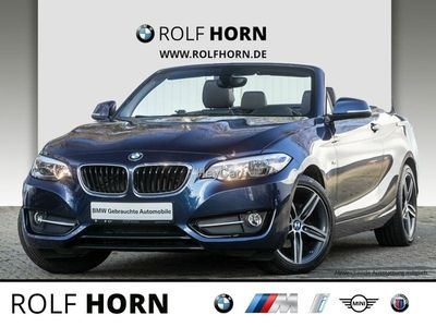 gebraucht BMW 218 i Cabrio Sport Line Klima HIFI Leder Sitzhzg