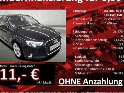 gebraucht Audi A3 Limousine 35 TFSI Sport ConnectivityPaket Kom