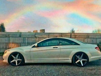 gebraucht Mercedes CL500 MercedesPerlmutt weiß Sommerfahrze...