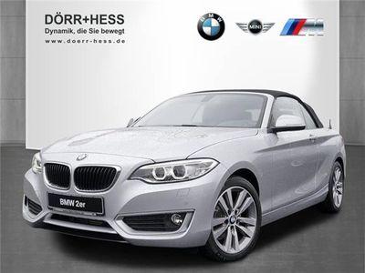 gebraucht BMW 218 d Cabrio Advantage Navi Xenon HiFi USB PDC