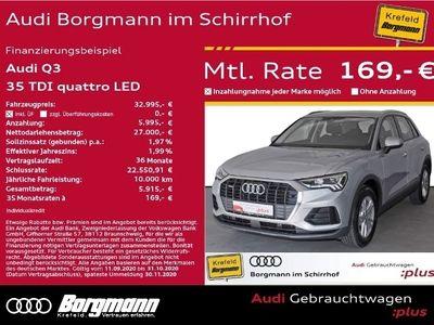 gebraucht Audi Q3 35 TDI quattro LED Einparkhilfe plus Sportsitze vorn KLIMA ALU