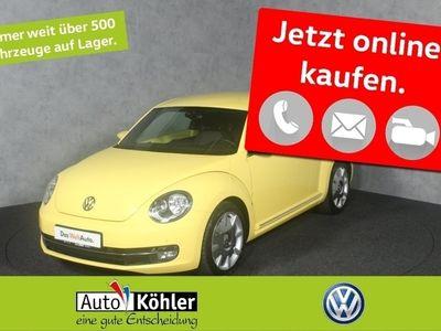 gebraucht VW Beetle Design 1.6 TDi Zusatzinstrumente Navi Kurve