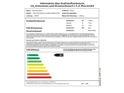 gebraucht Mercedes Citan 109 CDI KA/L+KLIMA+RADIO+LKW