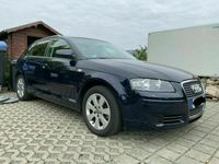 gebraucht Audi A3 Sportback 2.0 TDi DPF 8P Moroblau