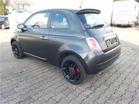 gebraucht Fiat 500 1.4 16V 100PS ROCKSTAR Automatik Xenon Mattschwarz
