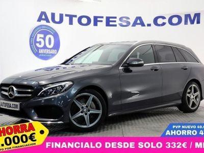 usado Mercedes C220 C 220 Estated Bluetec Auto 170cv AMG 5p #CUERO,NA